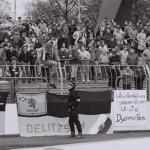 Klares Statment der Fans am 20. April 1991! Foto: Dehli-News