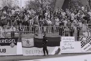 Klares Statement der Fans am 20. April 1991! Foto: Dehli-News